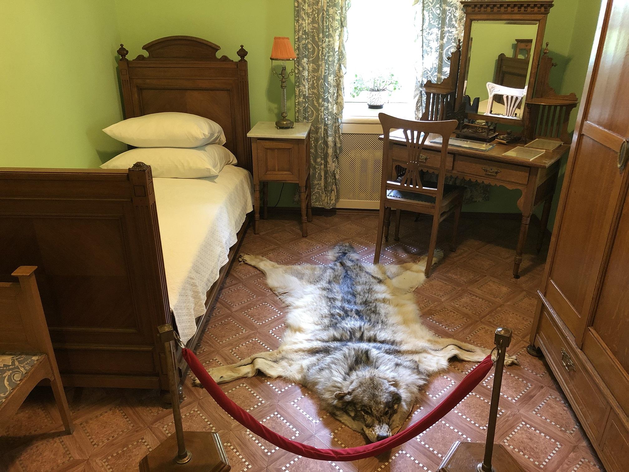 Lenins sovrum i ett av annexen