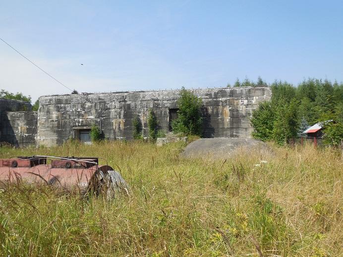Bunker intill tunneln