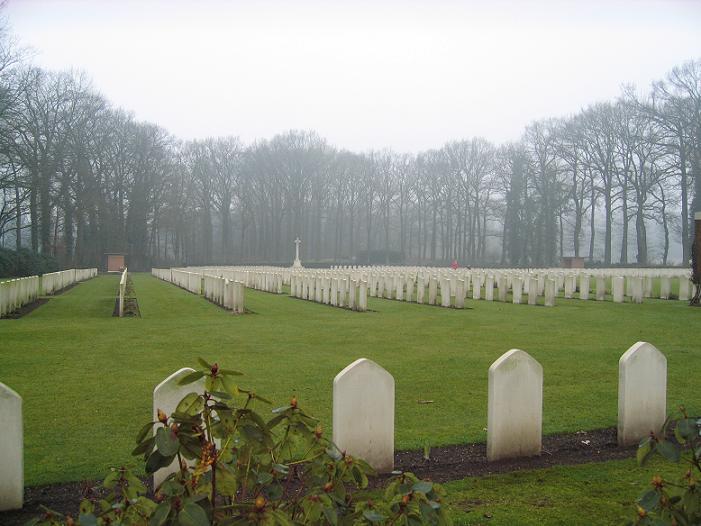 Brittisk krigskyrkogård i Oosterbeek
