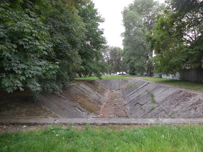 Vattenreservoar strax utanför Auschwitz I - Stammlager