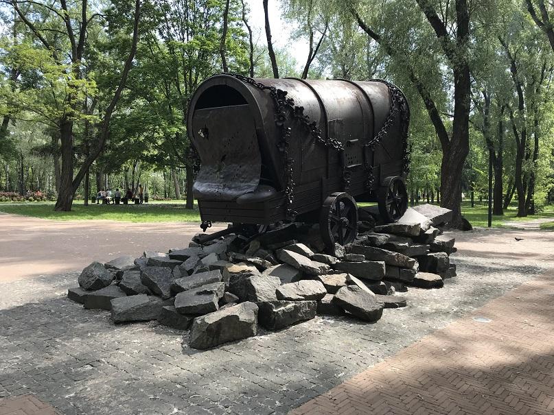 Minnesmonument för de romer som mördades