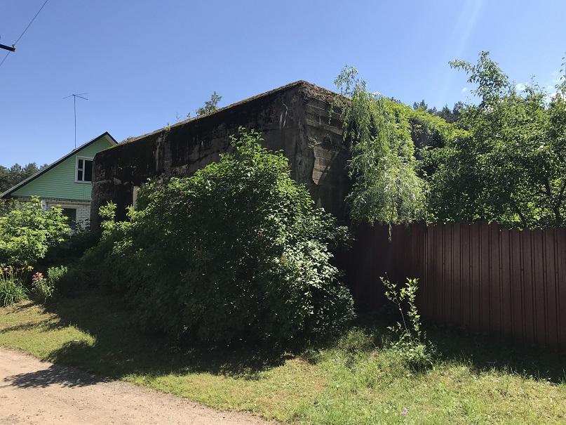 Bunker i byn Novi Bateki ca fyra kilometer väster om Hitlers bunker i Glushchenki