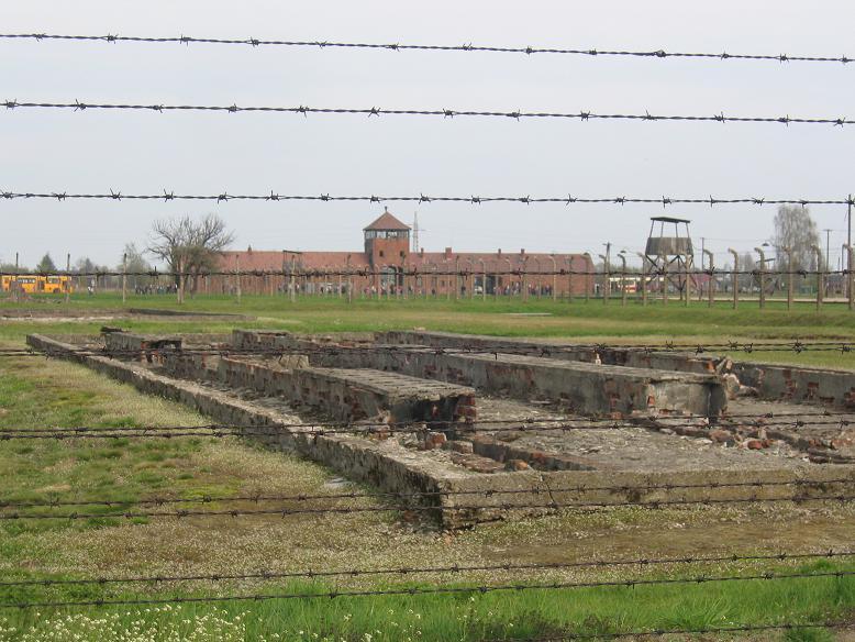 Lägerentrén sett från sektion BII