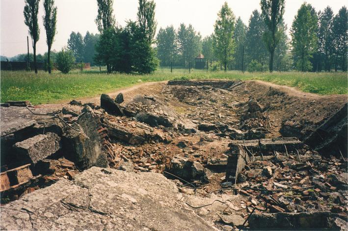 Ruiner efter gaskammaren krematorium II