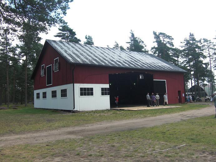 Kamouflerad hangar