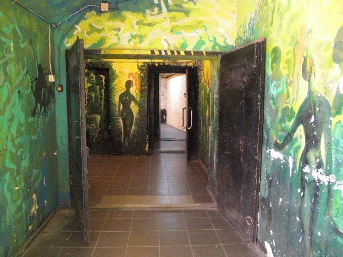 Inuti bunkern vid Legnicka