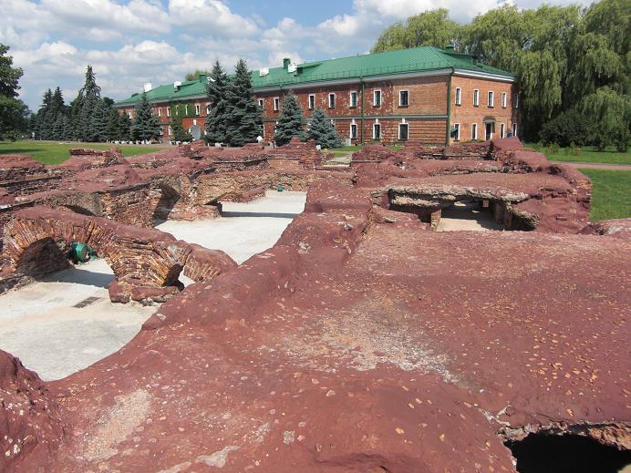 Ruiner efter det Vita palatset