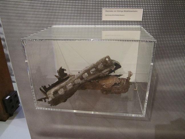 Rester av Görings modelljärnväg (Jagdschloss museum Gross Schönebeck)