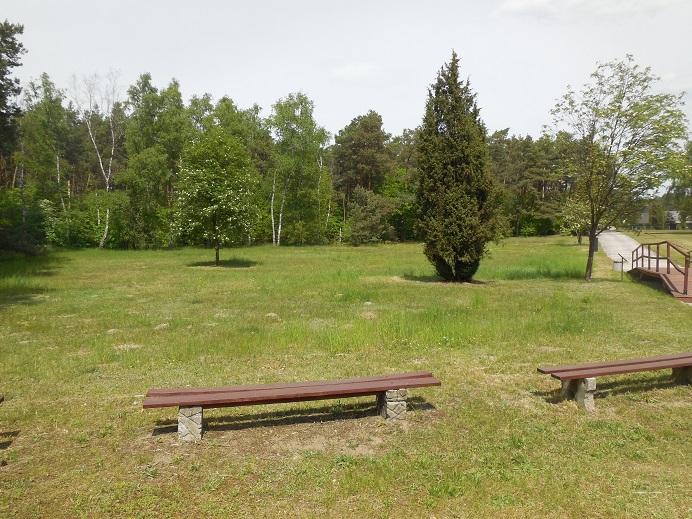 Waldlager: Platsen där mottagningsbarackerna stod under lägrets andra period