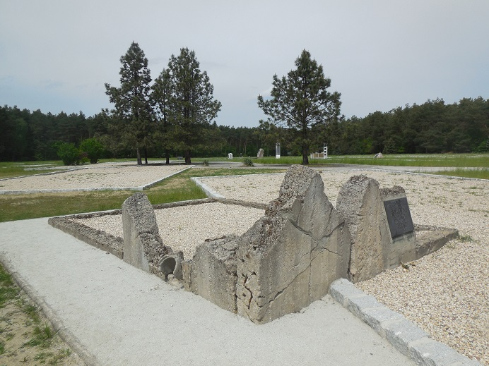 Waldlager: Ruin efter krematoriet