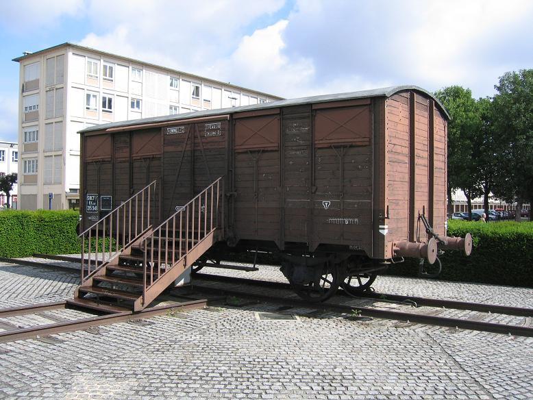 Godsvagn som användes vid transporter av judar från Drancy till Östeuropa
