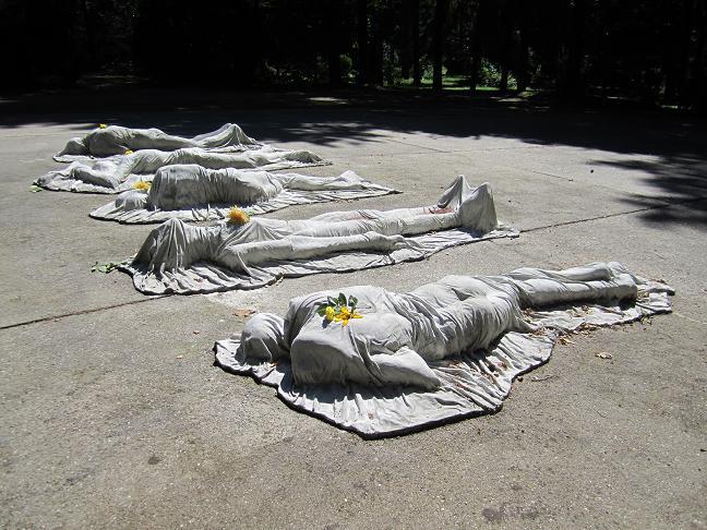 Heidekrykogården - minnesmonument för de sovjetiska medborgare som dog i Dresden mellan 1941 - 45