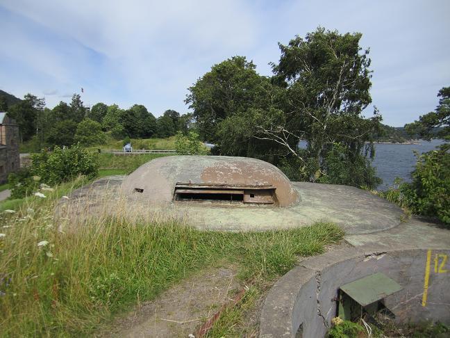 Observationspost vid huvudbatteriet
