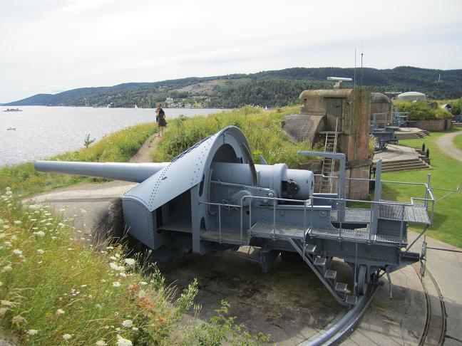 Den ena av två kanoner som öppnade eld mot Blücher