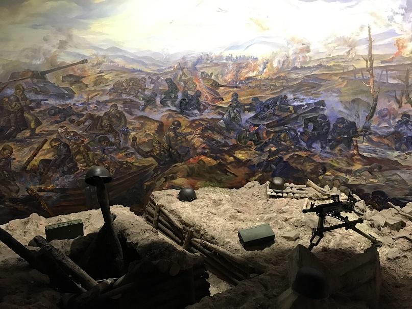 Dioramamålning militärhistoriska museet, Svidnik
