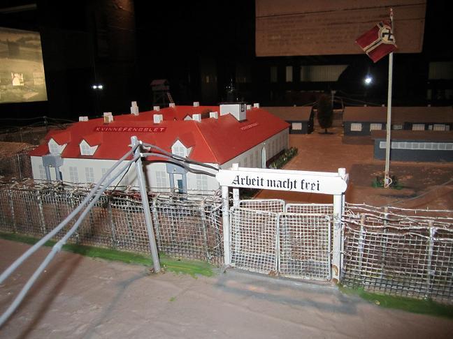 Modell av lägret på museet