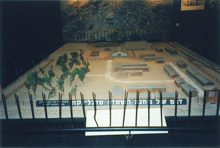 Modell över Treblinka II