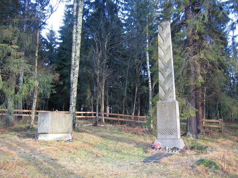Minnesmonument utanför Grini där fångar avrättades