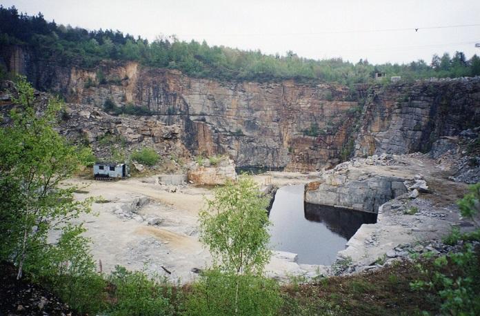 Stenbrottet där fångarna arbetade