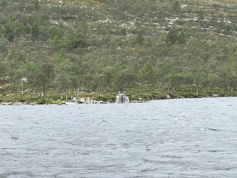 Vraket sett från båten (M/S Sylöra)