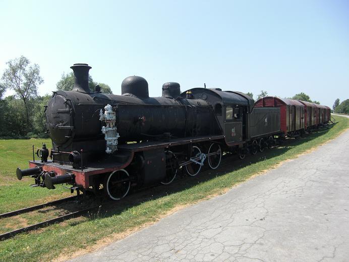 Tåg som förde fångar till lägret