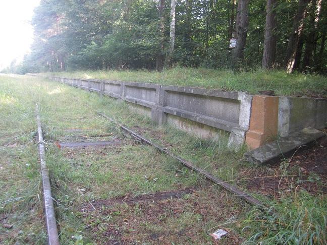 Perrongen dit fångarna anlände med tåg