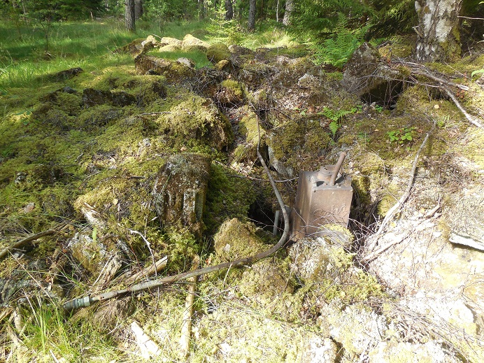 Ruiner av bostadsbarackerna