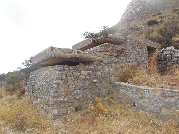 Tysk observationsbunker vid Kokkino Chorio öster om Chania