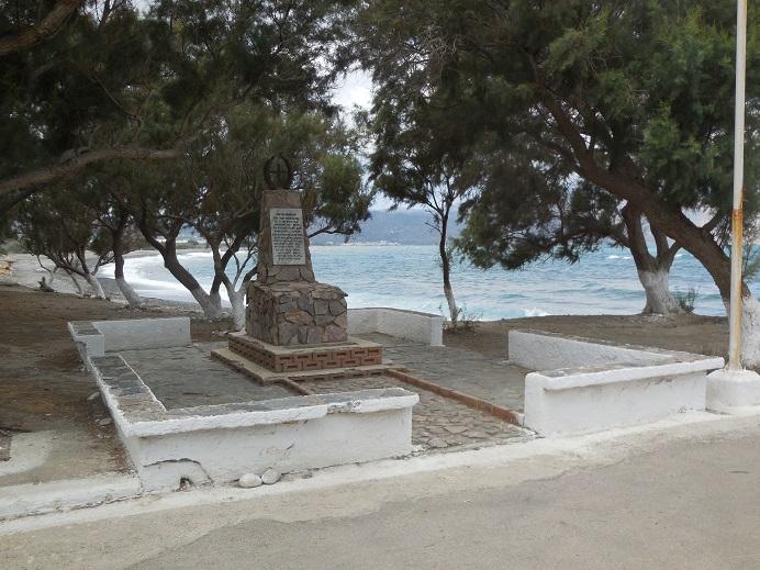 Minnesmonument över massakern i Tavronitis i juli 1941