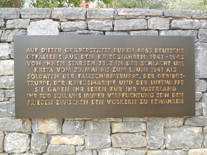 Tyska krigskyrkogården på höjd 107 vid Maleme