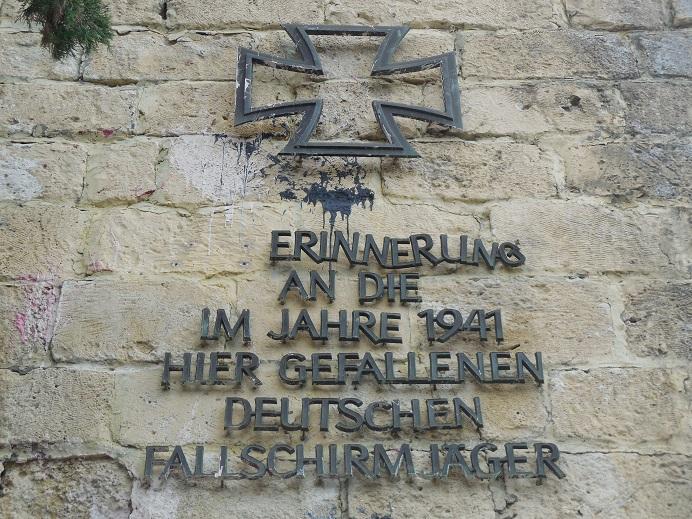 Fallschirmjäger Denkmal strax väster om Chania