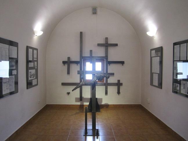 Minnesrum/museum inuti fortet