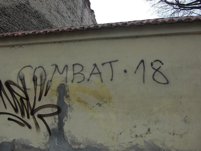 Nynazistiskt klotter i gettot