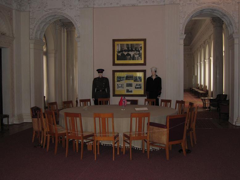 Här träffades deltagarna innan de gick in i förhandlingsrummet