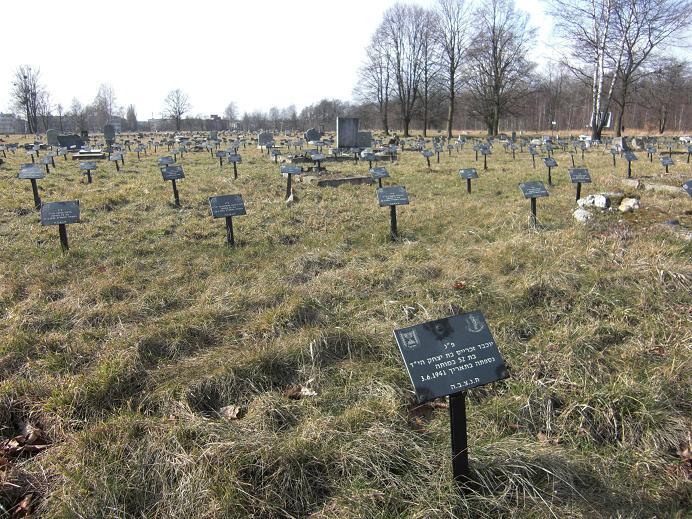 Ghetto field - Område på den judiska kyrkogården där dödsfall från gettot begravdes
