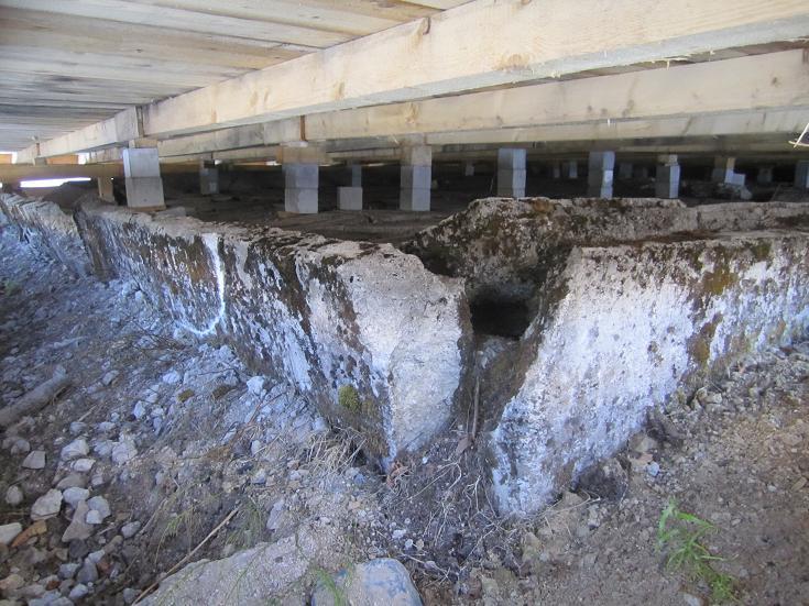 Fundament efter barack
