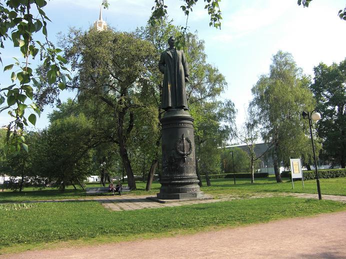 Statyn av Felix Dzerzhinsky i skulpturparken, Moskva