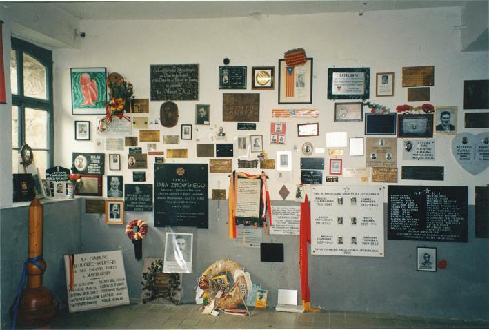 Personliga minnesplakat i krematoriet