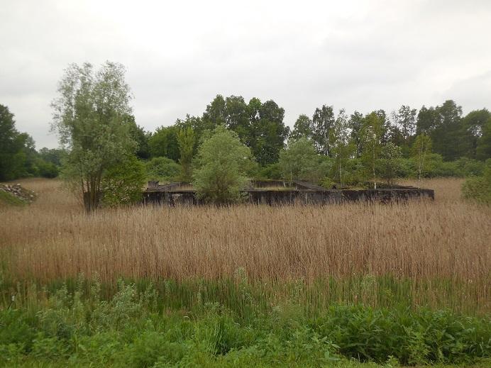 Lager IV - Pulverturm. Vattenreningsbassänger strax utanför Monowitz