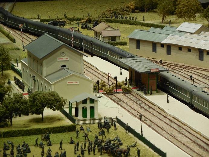 Modell av stationen vid tidpunkten för mötet