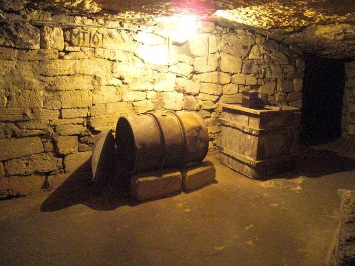 Inuti katakomberna