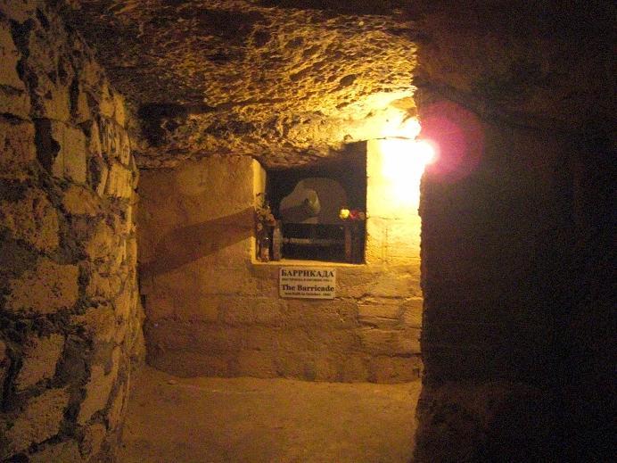 Inuti katakomberna (kulspruta)