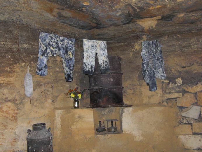Tvättstuga inne i katakomberna