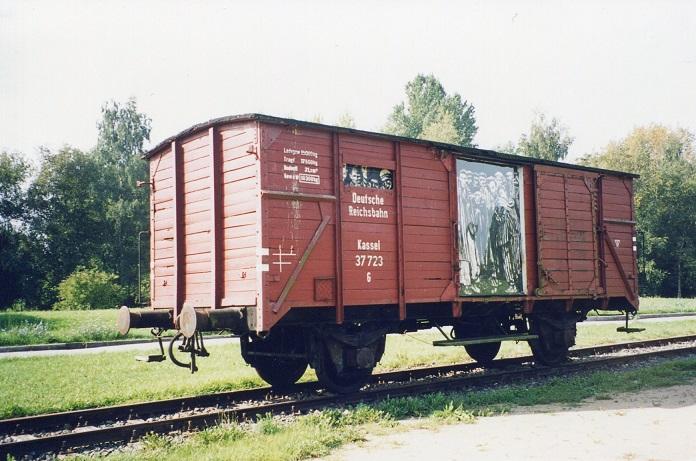 Godsvagn som transporterade fångar