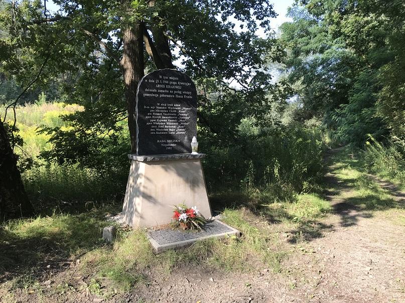 Minnesmonument tillägnat attentatet mot Hans Frank