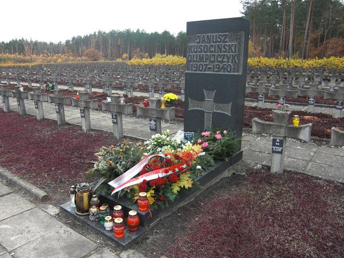 Den olympiske mästaren Janusz Kusocinski´s grav