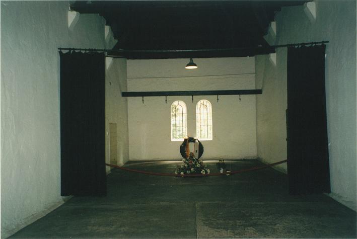 Avrättningsrummet där folk hängdes i krokarna