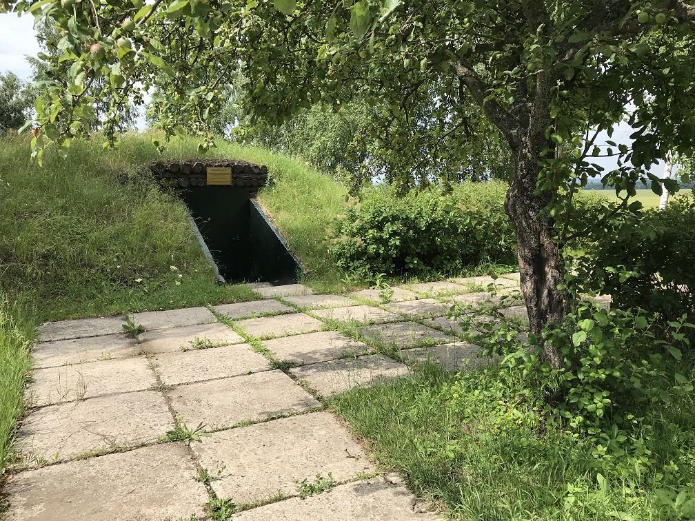 Sovjetisk kommandobunker ca två kilometer norr om Prokhorovka