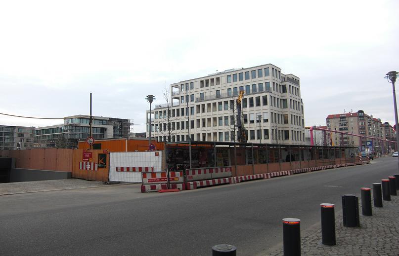 Vosstrasse där nya Rikskansliet låg