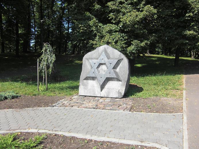 Minnesmonument i den f.d. judiska kyrkogården